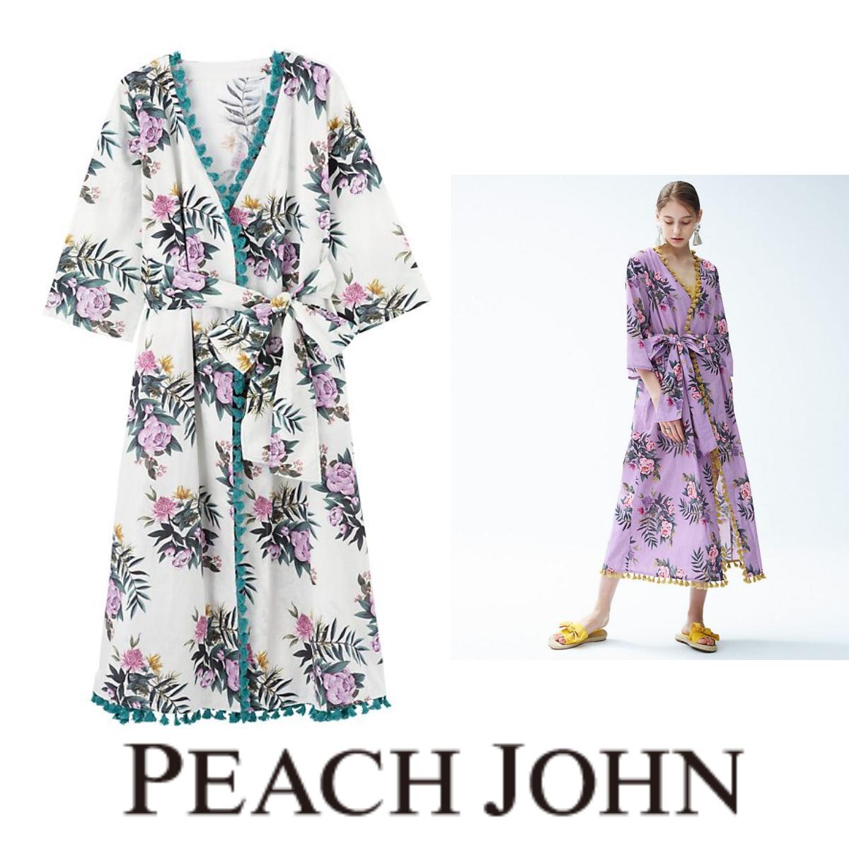 Peach John*Keiko Sasaki × SALON*Cotton Linen Flower LongRobe