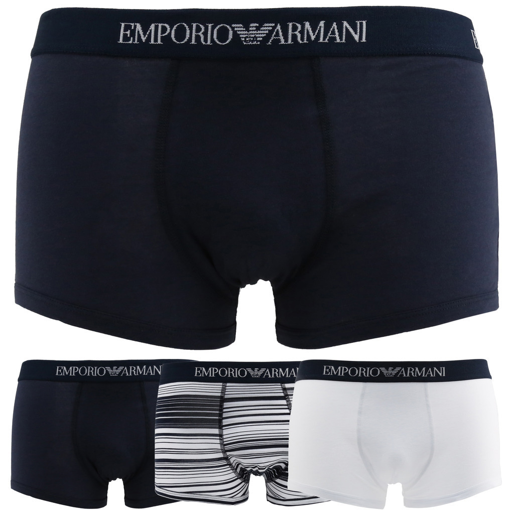 EMPORIO ARMANI Emporio Armani 43935 7P722 Men's 3 Pack Stretch Cotton Trunk