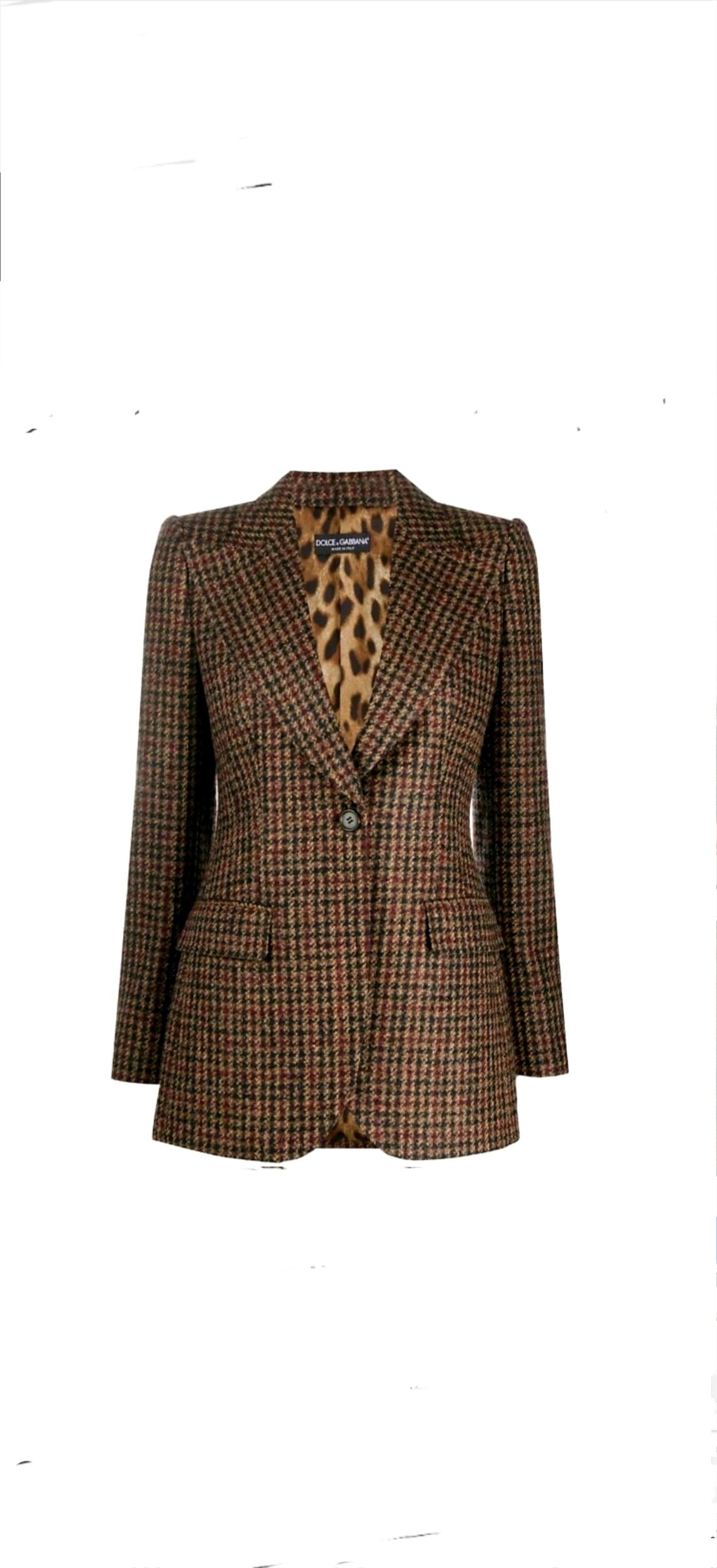 Dolce & Gabbana Dolce & Gabbana houndstooth fitted blazer