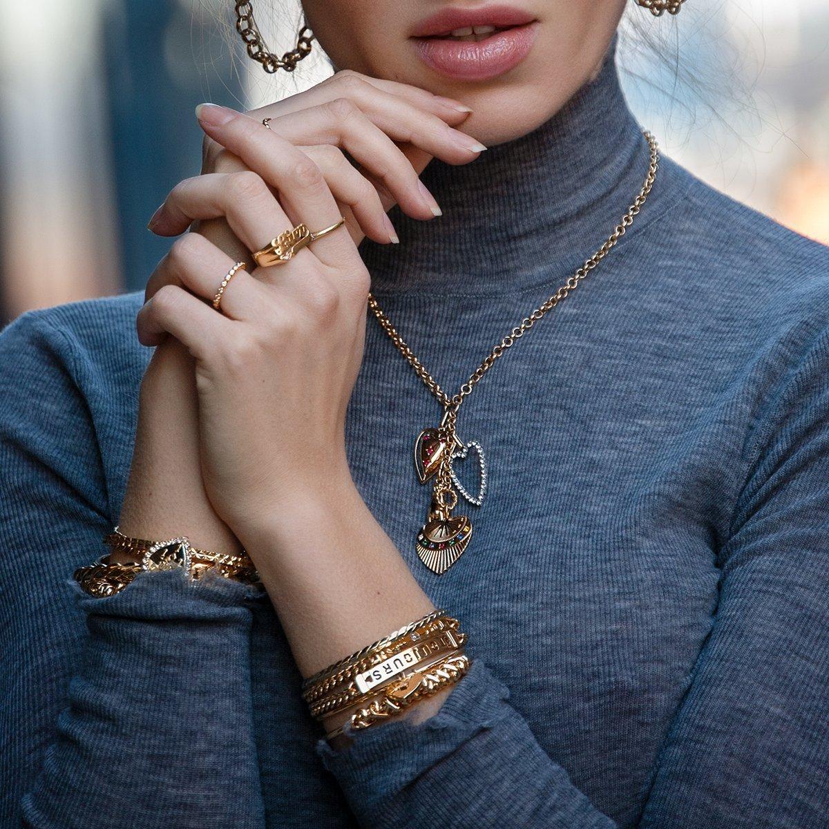 DANNIJO OCTAVE Heart charm Bracelet
