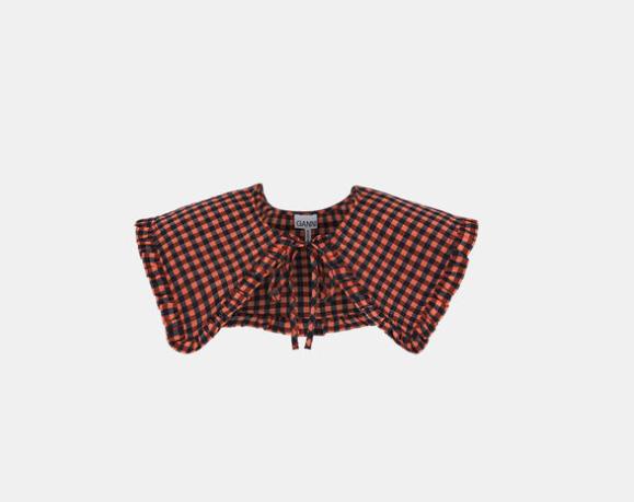 Ganni Carreaux red Collar
